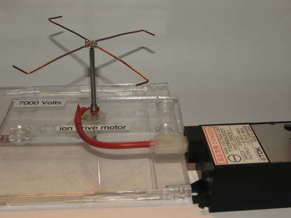 Simple electrostatic ion motor